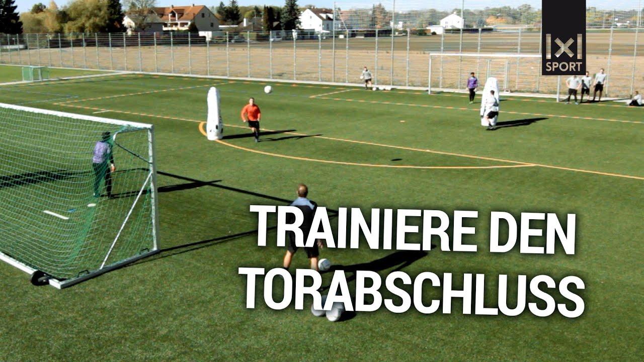 Torschusstraining Der Torschuss Parcours Fussballubung Trainiere Den Torabschluss