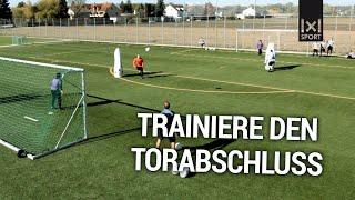 Torschusstraining: Der Torschuss-Parcours - Fußballübung: Trainiere den Torabschluss