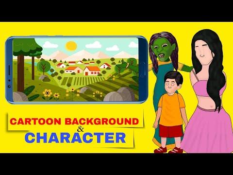 Kinemaster Cartoon Video Editing Part- 7 ( HD CARTOON CHARACTER DOWNLOAD+HD BACKGROUND+FREE LICENCE)