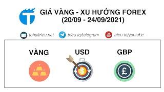 Dự báo Giá Vàng - Xu hướng Forex (20 - 24/09/2021): Gold, Bitcoin, GBP/USD, EUR/USD, AUD/USD