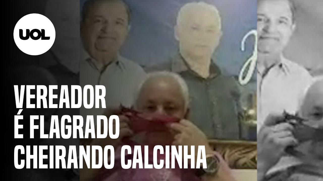 VEREADOR CHEIRA CALCINHA DURANTE SESSÃO VIRTUAL DA CÂMARA DE BRAGANÇA PAULISTA, INTERIOR DE SP