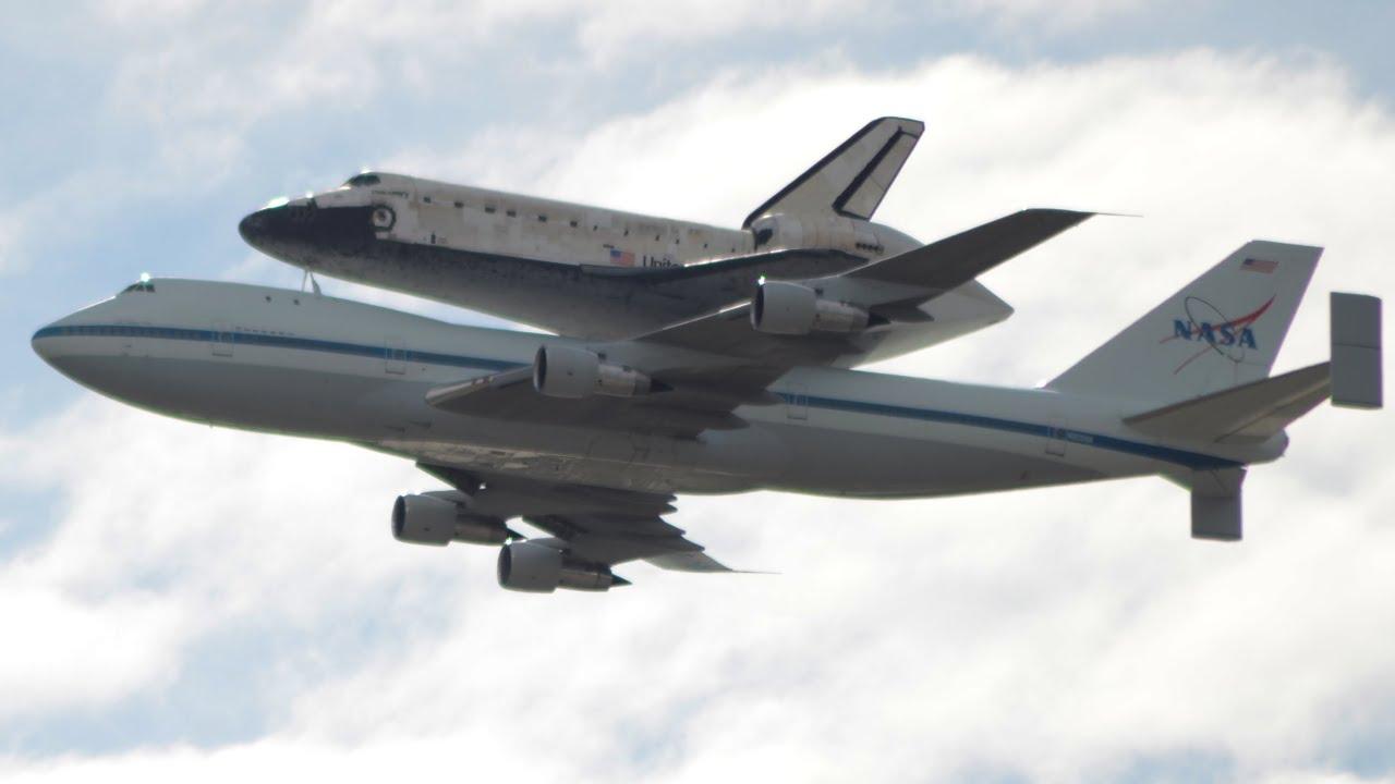 HD Space Shuttle Endeavor flyover at Jet Propulsion ... |Space Shuttle Flyover