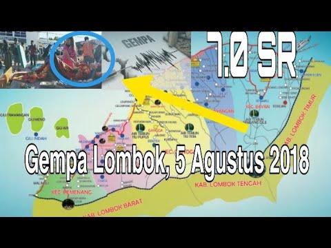 Viralkan ! Detik-detik Terjadinya Gempa 7.0 SR Di Lombok Utara