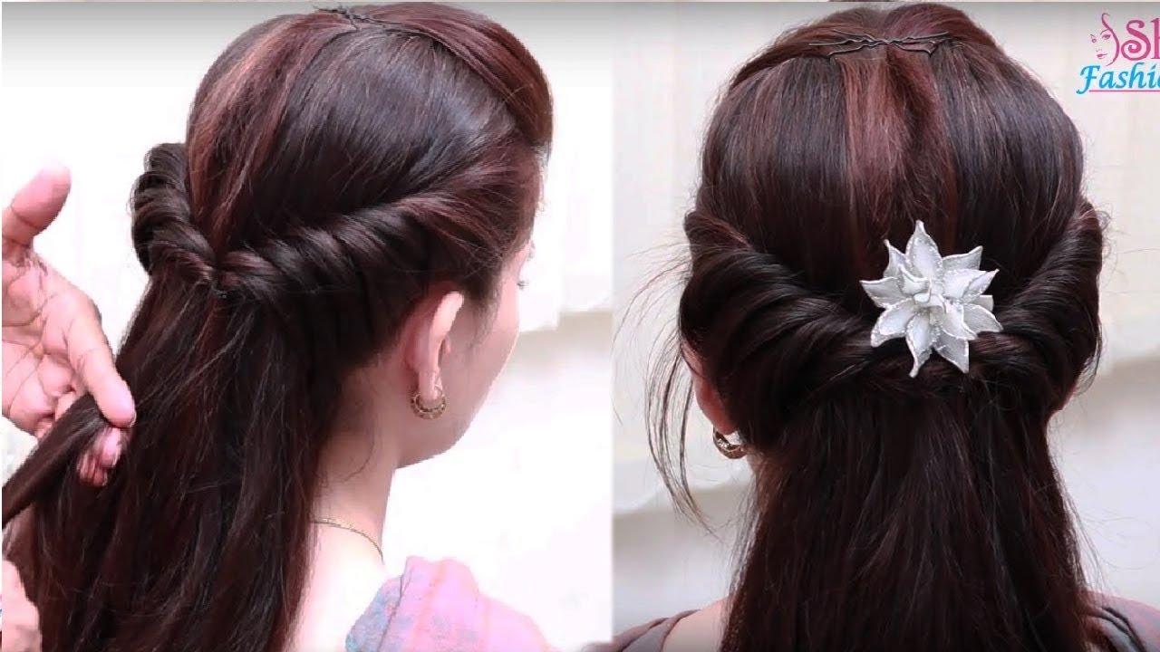 Easy Hair Style For Long Hair Simple Hair Style For Long Hair Ladies Hair Style Videos 2018