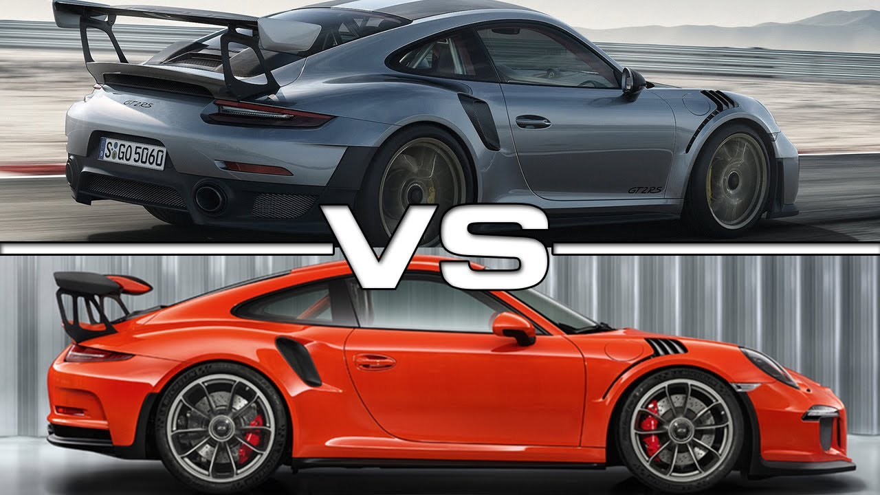 2018 porsche 911 gt2 rs vs 2017 porsche 911 gt3 rs youtube. Black Bedroom Furniture Sets. Home Design Ideas