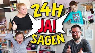 1 Tag lang JA SAGEN Challenge 😂 Papa muss sein Auto verkaufen! Lulu & Leon - Family and Fun