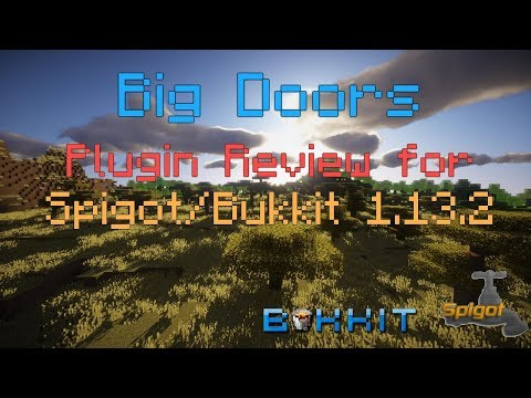 Big Doors Plugin Review For Spigot/Bukkit 1.13.2