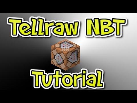 Minecraft Tellraw NBT Command Tutorial