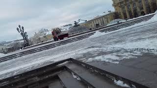 Смотреть видео В Москве Навалило снега 28/11/2018/ Посмотрим Как Украшают Москву онлайн