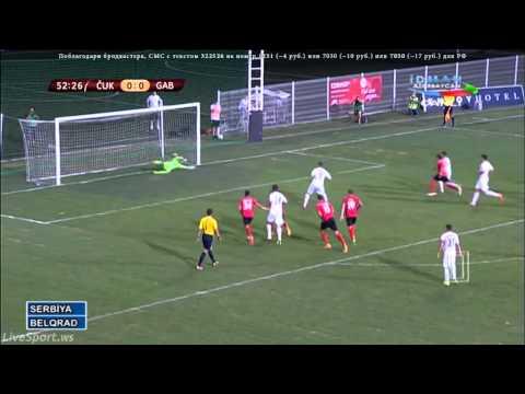 FK Cukaricki - FK Gabala 1:0 GOL Stojiljkovic