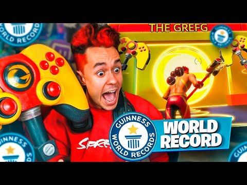 REACCIONANDO AL WORLD RECORD DE MI SKIN DE FORTNITE - TheGrefg