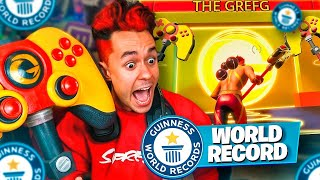REACCIONANDO AL WORLD RECORD DE MI SKIN DE FORTNITE - TheGrefg