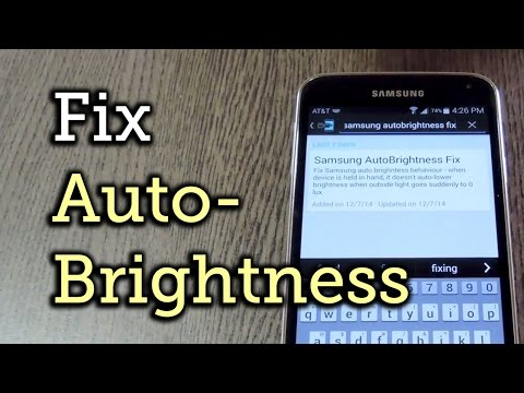 Fix Auto Brightness Adjustments On Samsung Galaxy Devices [How-To]