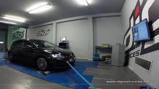 VW Golf 7 GTI 230cv DSG Reprogrammation Moteur @ 310cv Digiservices Paris 77 Dyno