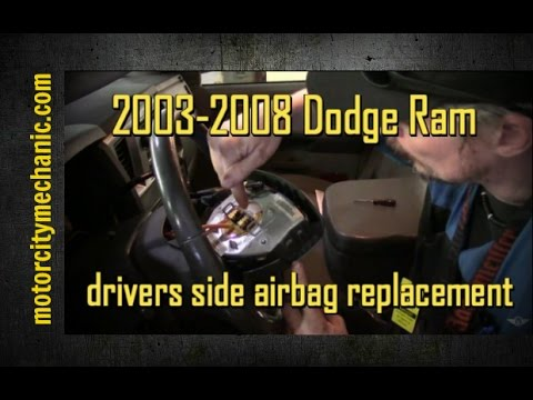 2003 2008 dodge ram drivers side air bag youtube publicscrutiny Gallery
