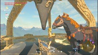 始まりの塔に巨馬を乗せてみた