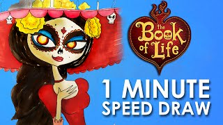 1MINUTE SPEED DRAW ✎ LA MUERTE ✎ THE BOOK OF LIFE