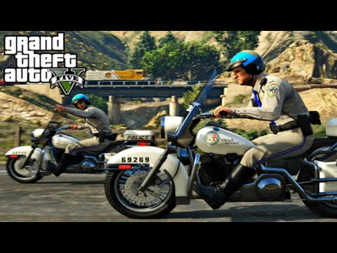 GTA 5 Mods - PLAY AS A COP #4 - Police Patrol, Alcohol Test, Gang Fight (GTA 5 PC Mods Gameplay)