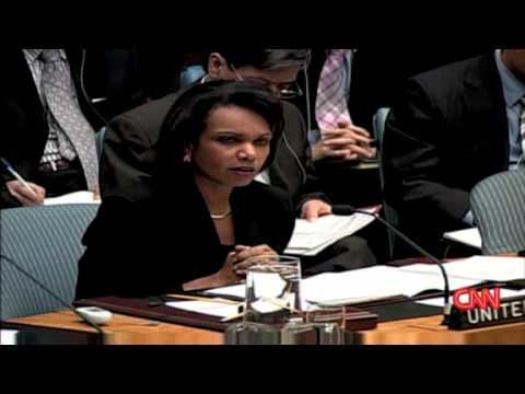 Condoleezza Rice UN (Gaza Resolution)