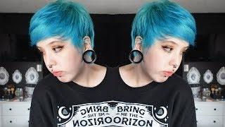 Dying My Hair Blue! | Manic Panic Bad Boy Blue