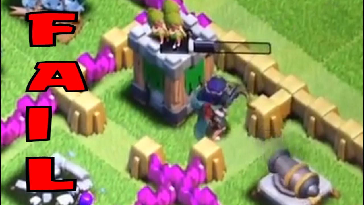 Clash Of Clans Funny Fail Raids Failtage 19 Youtube