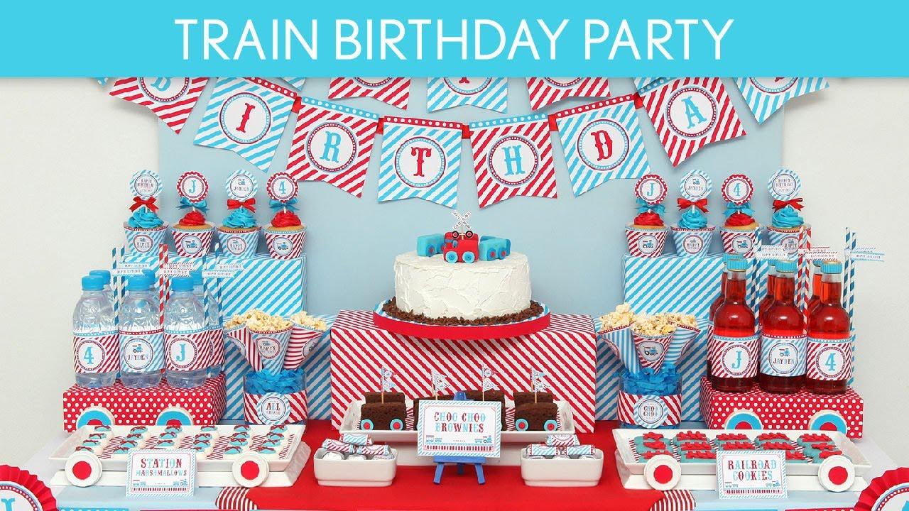 Train Birthday Party Ideas Vintage