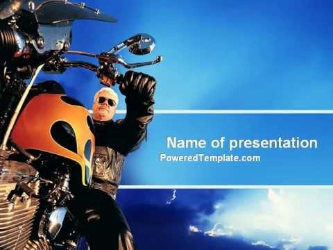Biker powerpoint template by poweredtemplatecom youtube for Poweredtemplate