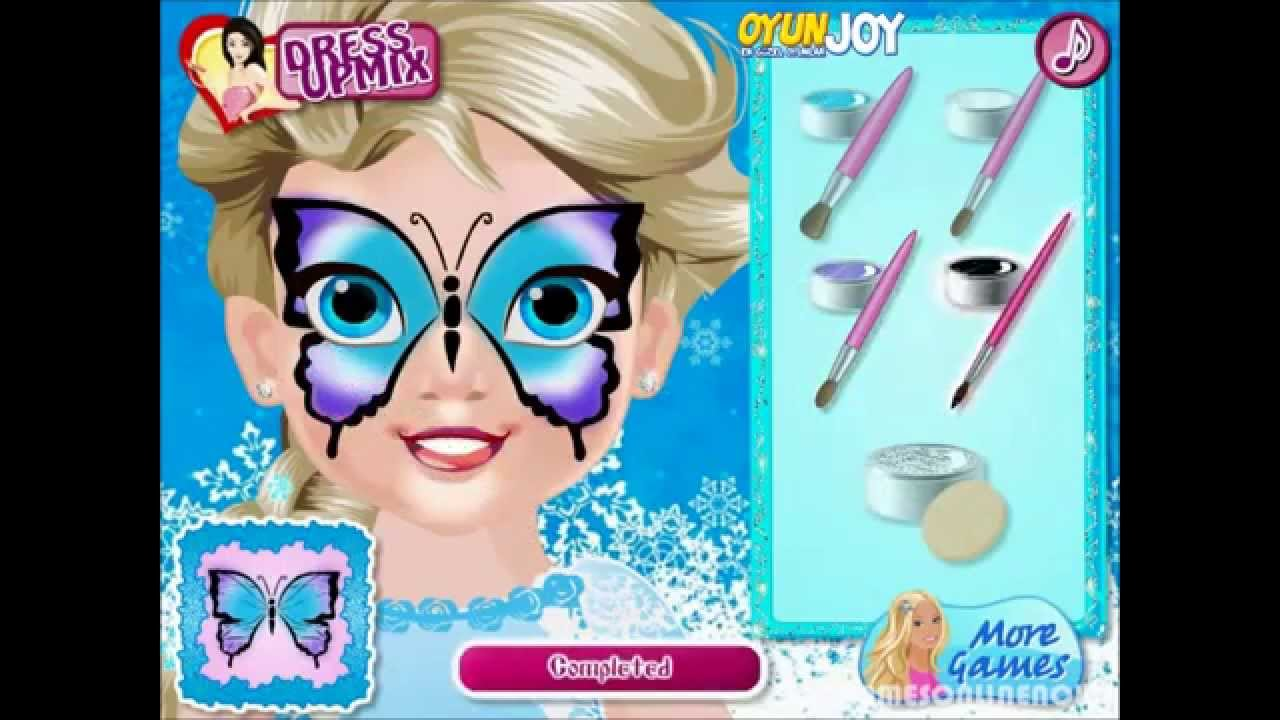 Oyunjoycom Bebek Elsa Yüz Boyama Nasıl Oynanır Baby Elsa