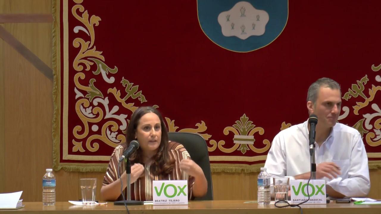 Intervención de Beatriz Tejero, nueva coordinadora de VOX Leganés ...