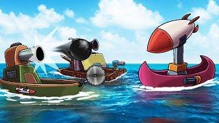 Minecraft   RAFT WARS: Boat Defense Challenge! (Defend Your Boat Fort)