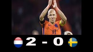 Netherlands vs Sweden 2-0 all goals & highlights HD 10 October 2017