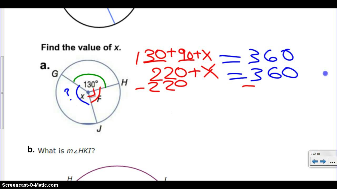 Lesson 7 - Sum of Central Angles - YouTube