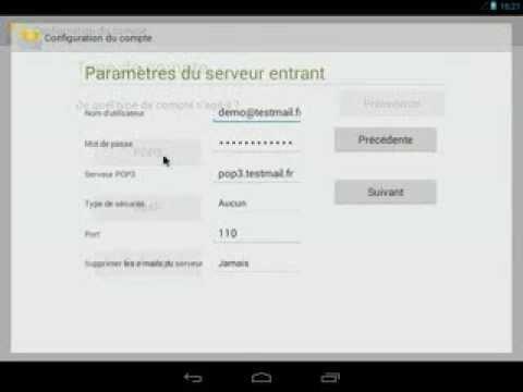 Configurer Un Compte  POP Sous Android
