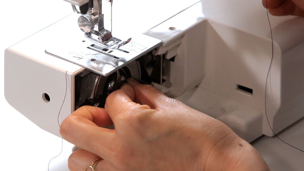 how to load a bobbin sewing machine [ 1280 x 720 Pixel ]