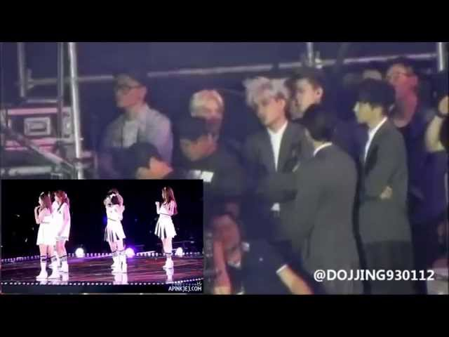 [EXOPINK] EXO watching APINK perform NoNoNo @ Dream Concert 2014