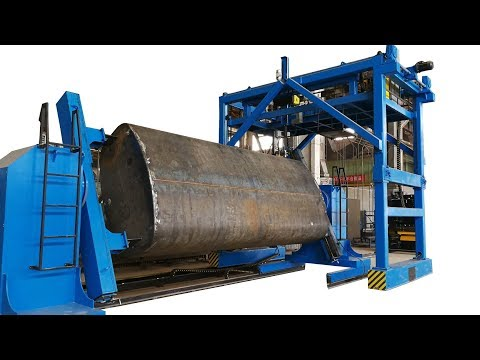 Oil, water tank automatic welding production line