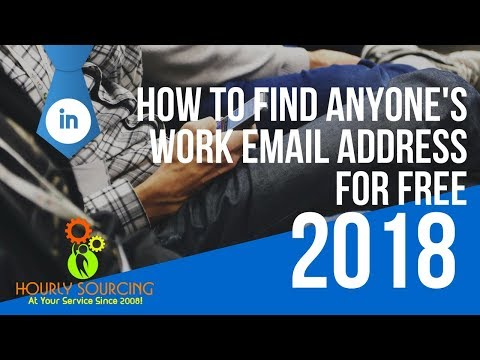 How to find anyone's work email address free!