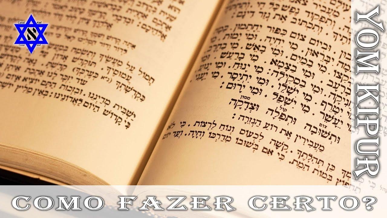 Como fazer o Yom Kipur do jeito certo? E ter seus pecados perdoados - Canal alef