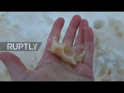 Απόκοσμο τοπίο: Πλανήτης Αρης η Ανατ. Ευρώπη -Πορτοκαλί χιόνι