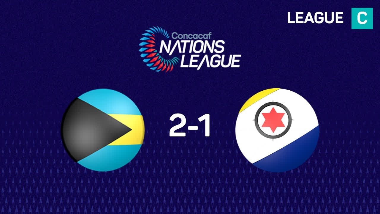 Bahamas wins 2-1  against Bonaire