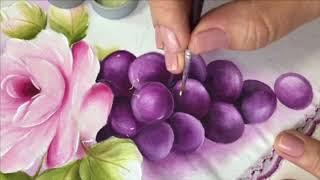 Hoje Vamos Aprender a Pintar Uvas e Folhas