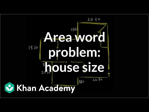 Calculating the square footage of a house | Measurement | Pre-Algebra | Khan Academy