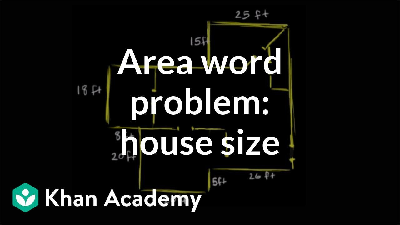 Calculating the square footage of a house measurement pre algebra khan academy youtube - Calculating square footage of a house pict ...