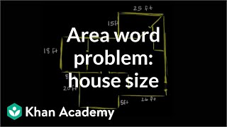 calculating the square footage of a house   measurement   pre algebra   khan academy