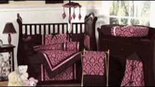 Bella Chocolate And Pink Baby Bedding By Jojo Designs
