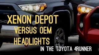 XenonDepot XtremeHID & XtremeLED Bulbs compared Toyota OEM Halogen Bulbs 5th Gen 4Runner Headlights