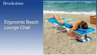 Ergonomic Beach Lounge Chair - Outdoor Furniture Gifts At Brookstone