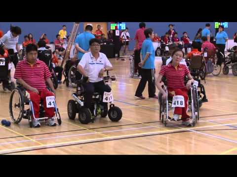 BISFed Asia and Oceania Boccia Team and Pairs Championships 2015 - Match replay (CHINA VS KOREA)