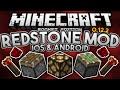 REDSTONE MOD for MCPE!!! - iOS & Android - Pistons, Levers, & More! - Minecraft PE (Pocket Edition)