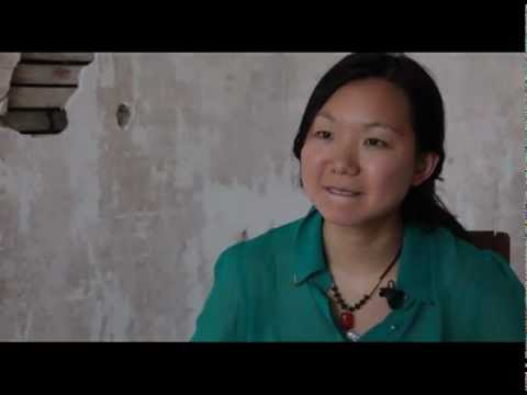 Interview with bassist Linda Oh from 2012 Newport Jazz Festival